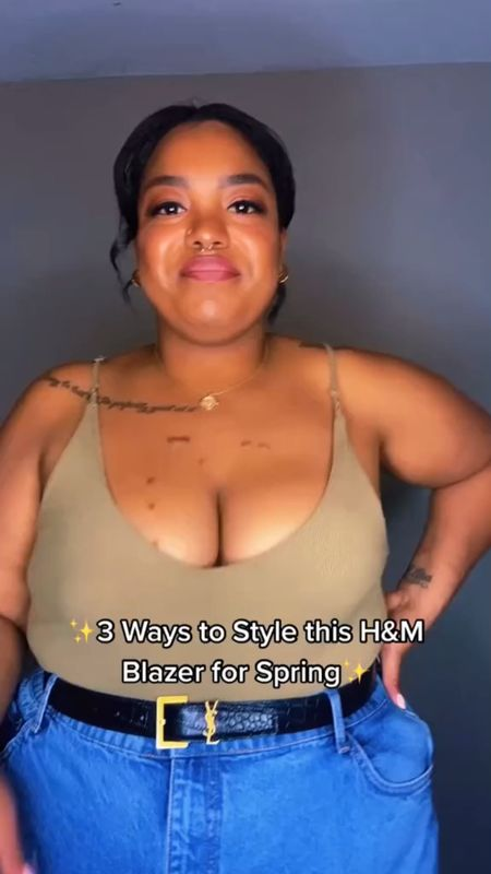 I picked up this H&M blazer a while ago to accent my plus size Spring/Summer looks and I am loving the style options.   Here are 3 ways I styled it - from plus size business casual to plus size date night. One great staple piece can take you so many places. I linked some dupes of the items I'm wearing IN CASE you need them (but shop your closet first!)  #LTKcurves #LTKstyletip #LTKunder100