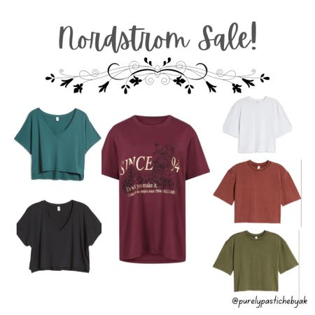 Nordstrom anniversary sale: Graphic Tees and Crop Tops!💓 super cute, basic, and trendy. Perfect for any last minute outfit👗  #LTKstyletip #LTKsalealert #LTKunder50