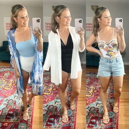 Amazon swimsuits! Rounded up some of my new one piece swimsuits from amazon! So many good amazon finds, wearing a medium in all three! Also linked my swimsuit coverups and jean shorts.   #LTKunder50 #LTKswim #LTKstyletip