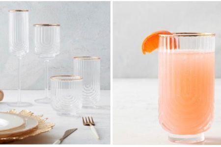 Regal glassware. Gold accent glassware   #LTKstyletip #LTKsalealert #LTKhome