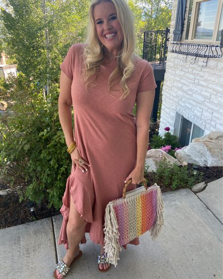 Summer sun dress and great beach bag! . .  Shop my daily looks by following me on the LIKEtoKNOW.it shopping app Download the LIKEtoKNOW.it shopping app to shop this pic via screenshot http://liketk.it/3hb75 #liketkit @liketoknow.it #LTKwedding #LTKunder50 #LTKshoecrush