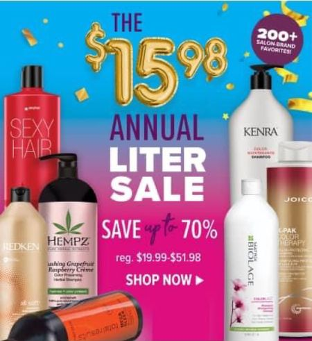 ☀️The annual Liter sale is happening right now at Beauty Brands! Stock up on Biolage, Redken, KENDRA and more!   Free shipping!   Xo, Brooke  #LTKsalealert #LTKstyletip