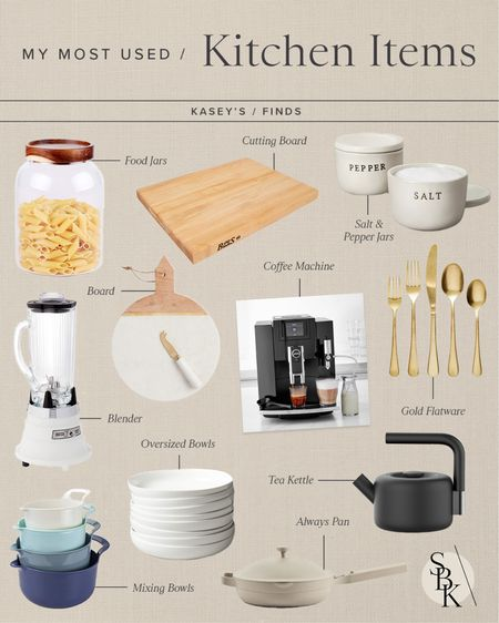 K I T C H E N \ my most used #kitchen items!  #kitchendecor #chef #cooking #gifts   #LTKunder50 #LTKhome #LTKGiftGuide
