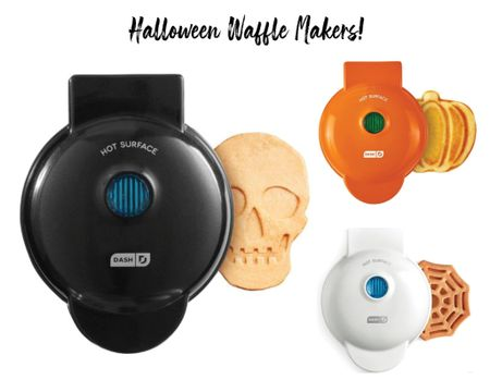 These Halloween waffle makers are back in stock!! I have the skull waffle maker and used it so much last year!  #LTKhome #LTKkids #LTKunder50