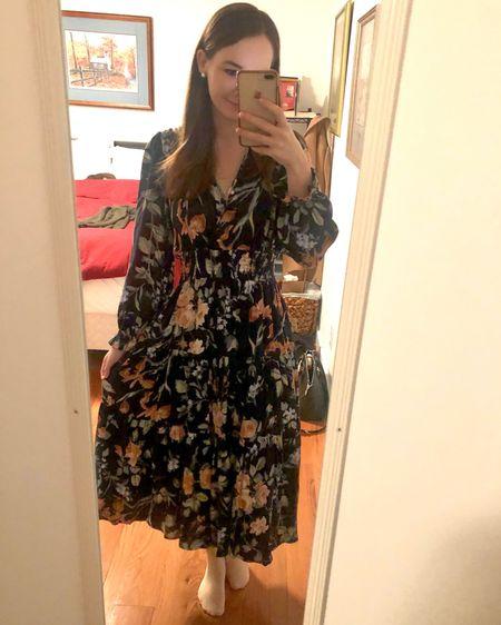 http://liketk.it/3716l #liketkit @liketoknow.it wearing a small in this long sleeve midi maxi dress