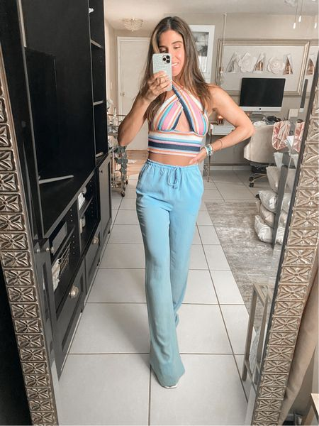 Amazon Haul 🌈  Pants are from Zara - Color Sky blue | 7936/020  #LTKSeasonal #LTKunder50 #LTKtravel