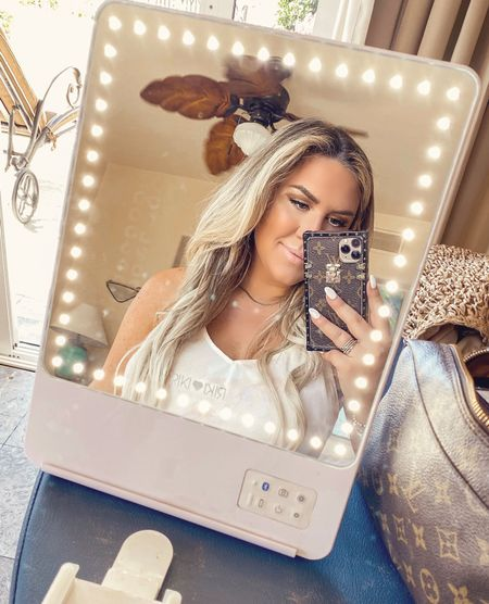 Lighted makeup mirror riki loves riki mirror   #LTKbeauty #LTKsalealert #LTKunder50