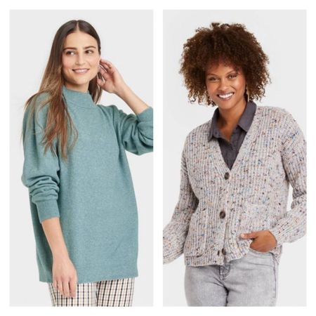 It's officially Fall 🍁…as you add new sweaters to your shopping cart. 🛒🛍 Women's Tops @target are 20% off!! So now is a good time to shop! I purchased these two tops online and I can't wait to see that multicolor cardigan in person. 😍 #somanystyleoptions    #LTKsalealert #LTKSeasonal #LTKunder50