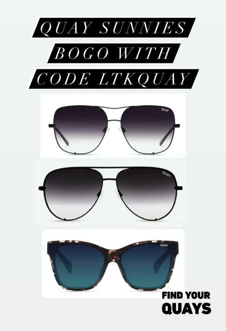Quay sunglasses bogo with code LTKQUAY! Perfect stocking stuffer idea! Gifts for her, wish list, quay australia, Nordstrom, LTK day, LTK sale, Black Friday, aviator sunglasses   #LTKsalealert #LTKgiftspo #LTKunder100
