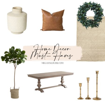 Loving all of the neutral colors with little green accents. AND how cute is that wreath?! I'm such a wreath-aholic!   #LTKstyletip #LTKhome #StayHomeWithLTK