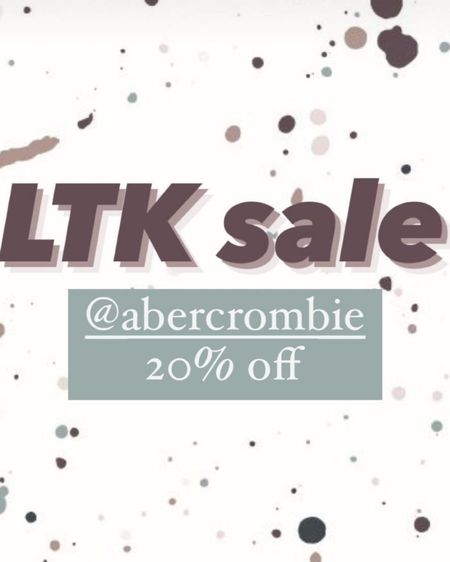 Abercrombie http://liketk.it/3hldY #liketkit @liketoknow.it #LTKsalealert #LTKunder100 #LTKunder50