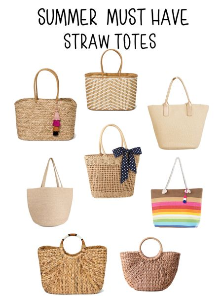 A Summer must have is a straw tote. Sharing 4 summer haves in the blog today.  #LTKSeasonal #LTKitbag #LTKsalealert