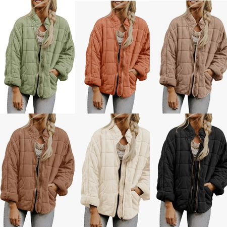 Amazon quilted jacket $65  Looks like the free people one that everyone loves