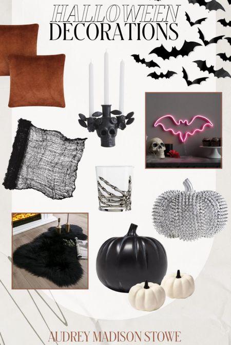 HALLOWEEN HOME DECOR ⭐️  —  Neutral decorations — Neon sign — Trendy pumpkins — Throw pillows  #LTKSeasonal #LTKstyletip #LTKHoliday
