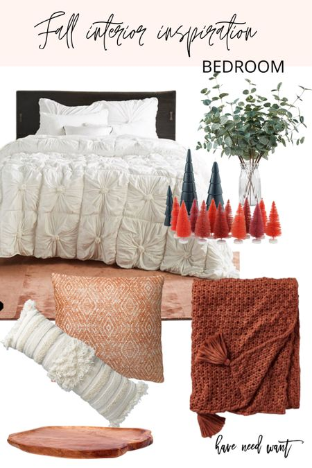 If you're looking for a fall update for your bedroom consider layering with extra throw pillows and blankets to cozy up your bedroom decor.   #LTKhome #LTKSeasonal #LTKunder50