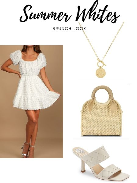 New blog post of my favorite all white outfits! This look is perfect for brunch, garden party, any brides out there 🤍 this necklace is my go-to and is perfect to layer with other dainty necklaces!! I am actually wearing it right now 🥰   #LTKshoecrush #LTKunder100 #LTKSeasonal