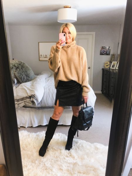 NSale outfit Nordstrom sale finds . Boots are tts and sweater needs to size down one.   #LTKunder100 #LTKsalealert #LTKstyletip