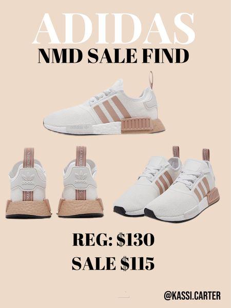 Adidas nmd sale on finish line! The perfect white sneaker. Neutral sneakers   #LTKsalealert #LTKSeasonal #LTKshoecrush