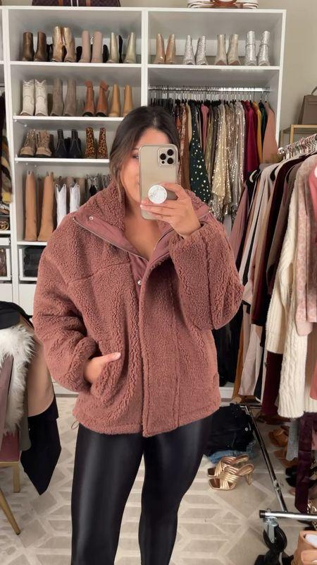 This super cozy Sherpa jacket is a part of @Abercrombie's Annual fleece & Sherpa sale! Wearing the sz small! Comes in more colors! #salealert #sherpa #cozyjacket #giftidea #abercrombie    #LTKGiftGuide #LTKsalealert #LTKunder50