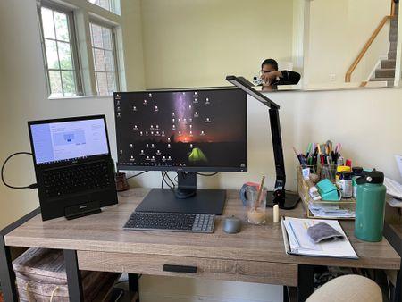 My home office desk, desk essentials, monitor, desk chair, laptop stand, desk lamp, office desk essentials   #LTKbacktoschool #LTKSeasonal #LTKhome