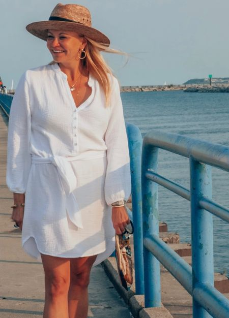 The best white dress for summer. Gauzy fabric, fits TTS and it is so comfortable!  Perfect for traveling, beach vacations and casual weekends. Love this summer dress!   #LTKstyletip #LTKtravel