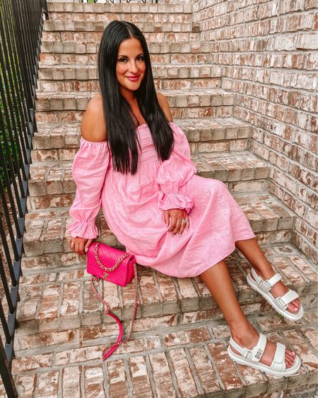 Petal and pup sleeper midi dress dupe pink dress @liketoknow.it http://liketk.it/3gPVC #liketkit #LTKunder100 #LTKstyletip