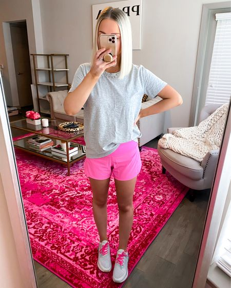 Speed up mid rise shorts in hot pink! All sizes currently in stock.. I wear the 4!! Almost identical to my #1 seller of 2020 🙌🏼  http://liketk.it/3gaps @liketoknow.it #liketkit #LTKfit #LTKunder100