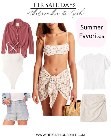 Like to know it sale, bathing suit, cover up, linen skirt, white t-shirt, casual everyday outfit, beach outfit   #LTKDay #LTKsalealert #LTKunder100