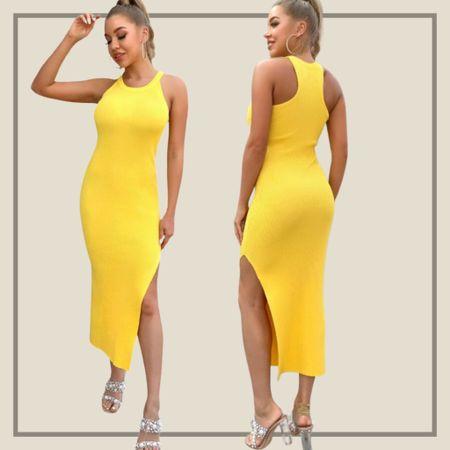 Racerback split thigh sweater dress  #LTKunder100 #LTKstyletip #LTKunder50