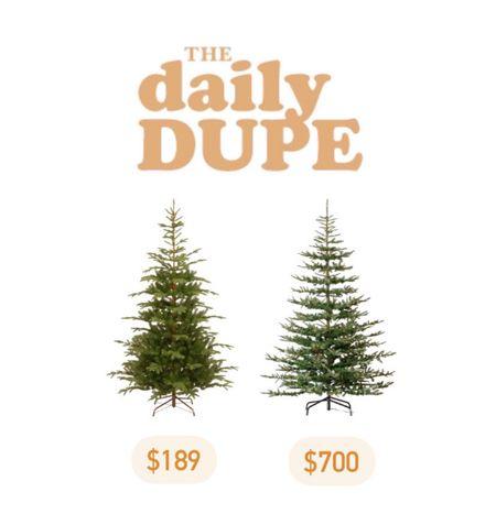 Faux Christmas Tree, Holiday, Daily Dupe, Save vs Splurge   #LTKHoliday #LTKhome