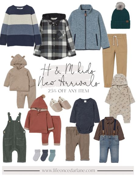 So many cute new fall arrivals at H & M.  All our favorite clothing for baby boys, toddlers and big kids! Also, 25% off any item!!  #fallclothing #fallfamilyphotos   #LTKkids #LTKSale #LTKsalealert