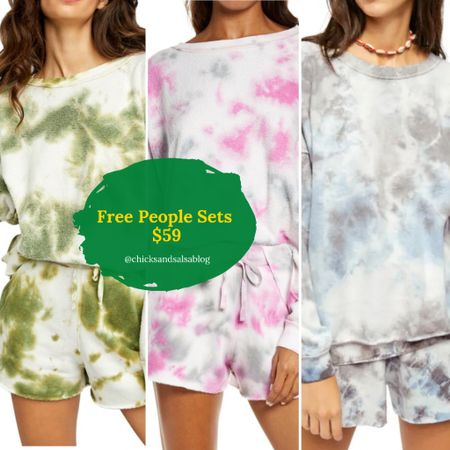 SALE ALERT// The cutest FREE PEOPLE sets are now $59! #sets #tiedye   #LTKhome #LTKsalealert #LTKtravel