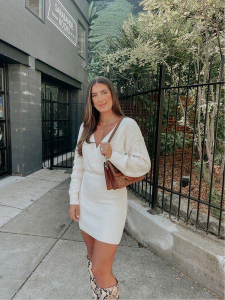 White sweater dress - medium   #LTKSeasonal