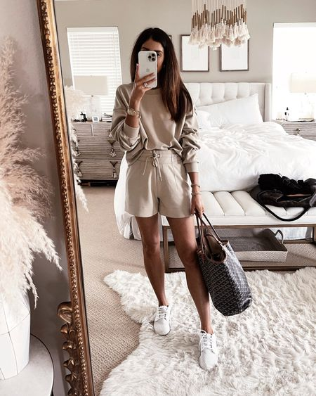 Summer athletic look, short lounge set, casual look, Lululemon, StylinbyAylin  Follow my shop on the @shop.LTK app to shop this post and get my exclusive app-only content!  #liketkit  @shop.ltk http://liketk.it/3kkTR  #LTKfit #LTKstyletip #LTKunder100