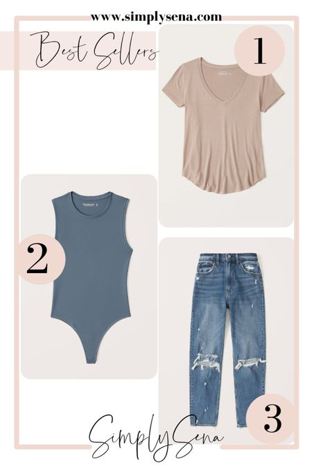 Last weeks best sellers   Abercrombie jeans, Abercrombie bodysuit, Abercrombie tee, basics    #LTKunder50 #LTKstyletip #LTKunder100