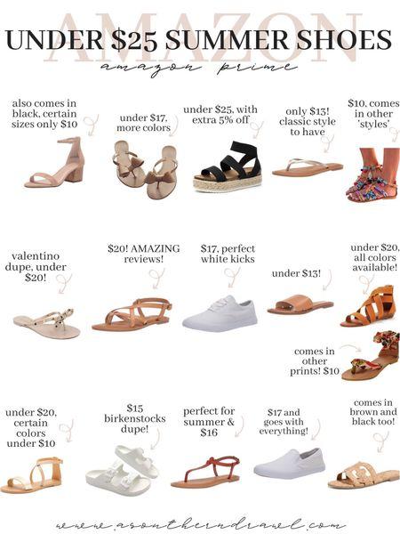 Summer sandals from Amazon fashion (under $25)   #LTKunder50 #LTKshoecrush #LTKsalealert
