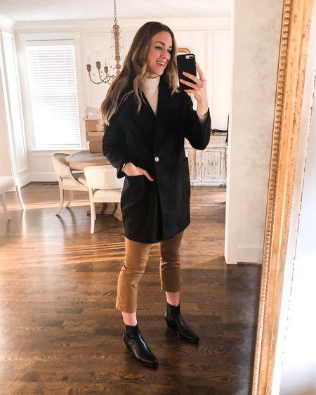 Topshop Carly Oversized Coat // Runs large. Wearing size 4 for oversized fit — size down for TTS. On sale for 50% off and under $100! http://liketk.it/2ISog #liketkit @liketoknow.it #LTKunder100 #LTKsalealert