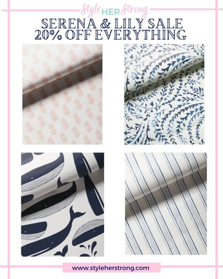 Serena & Lily sale 20% off with code: DIVEIN  the wallpaper we used in our house  #LTKsalealert #LTKfamily #LTKhome