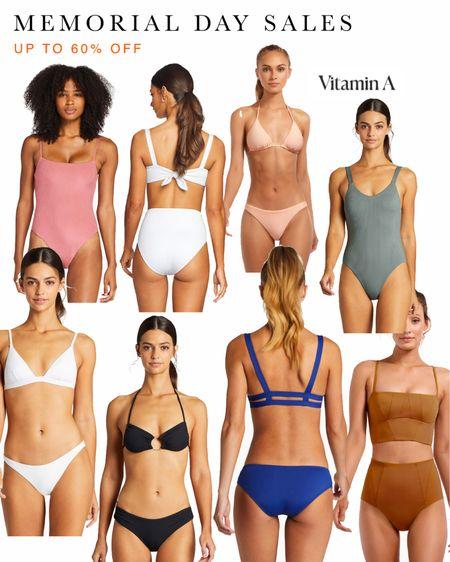 Memorial Day sales - Vitamin A beachwear bikinis swimwear sale! Shop my favorites / Beach vacation ready!  #LTKSeasonal #LTKsalealert #LTKeurope