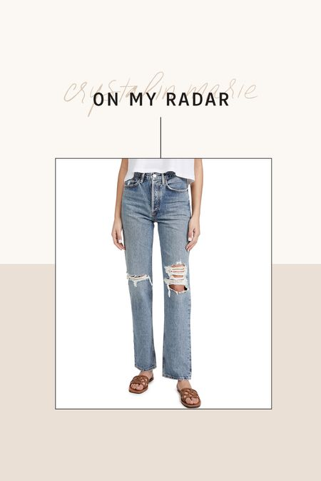 AGOLDE straight leg jeans. These are my number one jeans I'm looking to try once I can wear jeans again. I would take my normal size    #LTKsalealert