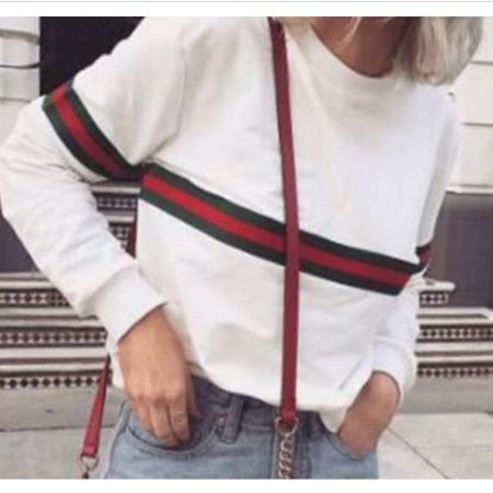 Lowkey obsessed with these Gucci inspired shirts!! Comes in black or white and I love how simple they are!! Would look super cute with some light colored jeans and slides!! http://liketk.it/3065y #liketkit @liketoknow.it @liketoknow.it.brasil @liketoknow.it.europe @liketoknow.it.family @liketoknow.it.home #LTKstyletip #LTKunder100 #LTKunder50