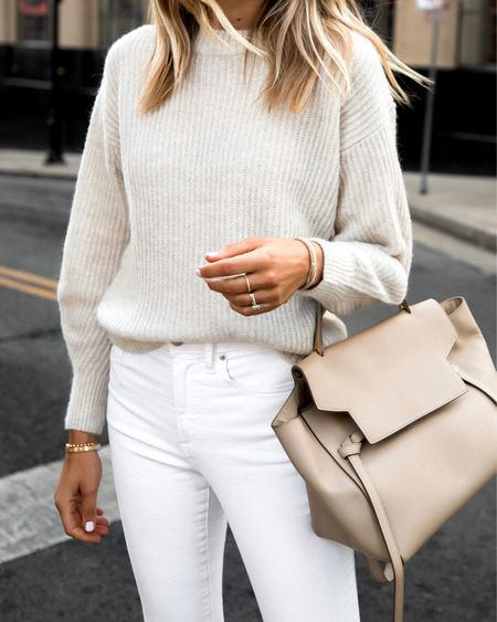 Cozy white sweater from Everlane (xs) perfect for fall and comes in more colors #sweaters #everlane #falloitfits   #LTKunder100 #LTKstyletip