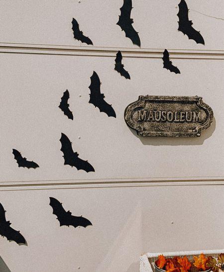 Bat Halloween decal decor 🎃🍁  #LTKSeasonal #LTKSale #LTKHoliday