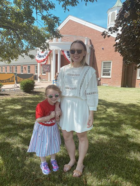 PreK graduation for my little girl - this dress is Mint Julep boutique and unfortunately sold out but i signed up for restocks so I'll let you know when it's back 🤍  Dress - sz med Sandals - Amazon find sized up  Sunglasses - MVMT for her use code MELISSJ15 for 15% off your order  #LTKunder100 #LTKstyletip #LTKshoecrush