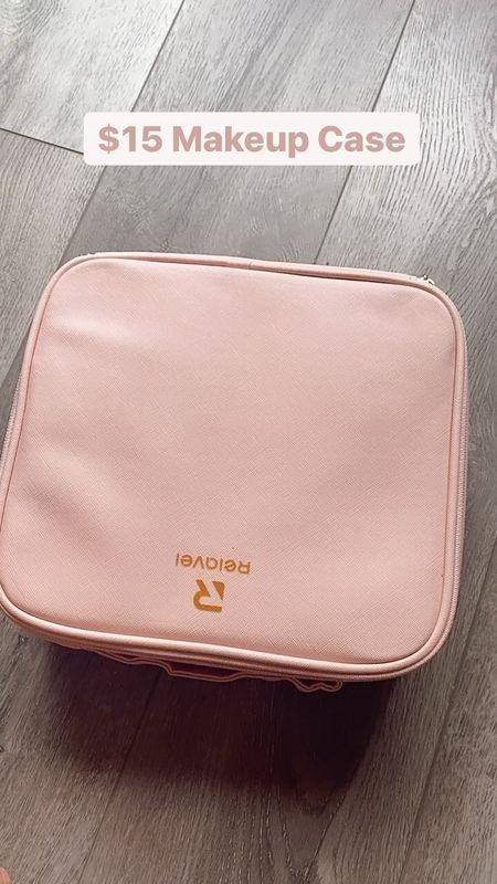 Amazon makeup travel case, Amazon find, makeup, storage, organizer, cosmetic case   #LTKunder50 #LTKtravel #LTKbeauty