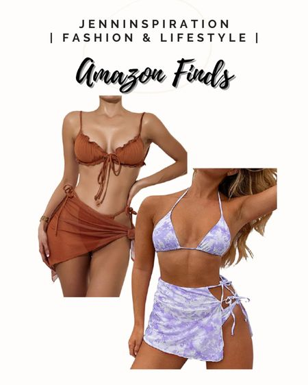 Swimsuit three piece set under $20 from Amazon! http://liketk.it/3h4ur #liketkit @liketoknow.it Follow me on the LIKEtoKNOW.it shopping app to get the product details for this look and others #LTKDay #LTKswim #LTKsalealert #AMAZONFINDS #SUMMER
