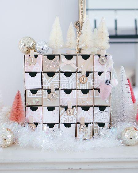 DIY Advent Calendar ✨ Christmas Decor, Holiday Decor. Paint Colors: Pink Blast, Powder Pink, Natural Beige, Khaki, White Pearl http://liketk.it/31S2u #liketkit @liketoknow.it #LTKhome #LTKunder50 @liketoknow.it.home