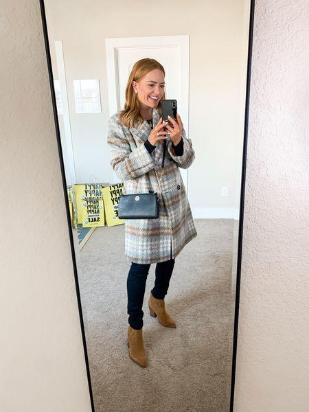 Nordstrom Sale - Winter Outfit Coat - Small Jeans - TTS Shoes - 7.5  #LTKstyletip #LTKitbag #LTKsalealert