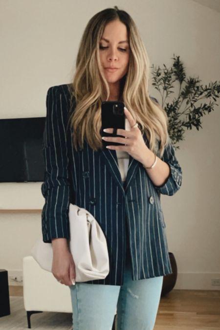Pinstripe blazer 🤍 TTS