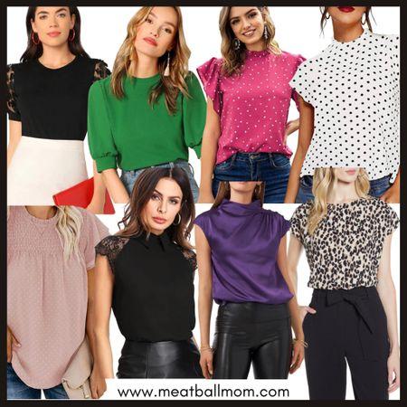 Workwear tops       Workwear / teacher outfits / blouses / business casual / amazon fashion / nordstrom finds   #LTKworkwear #LTKunder50 #LTKstyletip